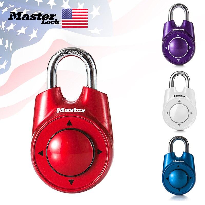 Master Lock Combination Directional Password Padlock Portable Gym School Health Club Security Locker Door Lock Assorted Colors